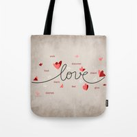 Love, Butterfly Hearts &… Tote Bag