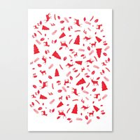 Scandinavian Christmas Pattern Canvas Print