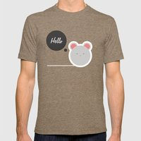 Hello Pets no.2 Mens Fitted Tee Tri-Coffee SMALL