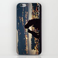 Girl and dog silhouettes  iPhone & iPod Skin