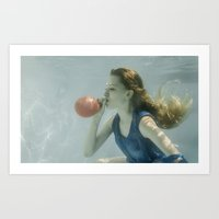 Water balloon Art Print