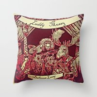 Luddy Mussy/ bull goose looney album cover Throw Pillow