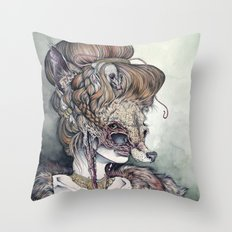 Vulpes Masquerade, Now A… Throw Pillow