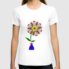 Modern Love Womens Fitted Tee White SMALL