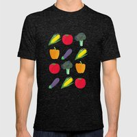Veggies! Mens Fitted Tee Tri-Black SMALL