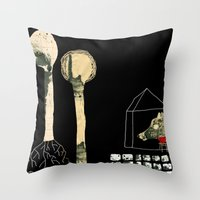 The seven little goats Throw Pillow