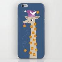 Note Giraffe iPhone & iPod Skin