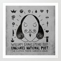 England's National Poet Art Print