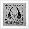England's National Poet Art Print