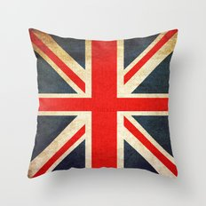 Vintage Union Jack Briti… Throw Pillow