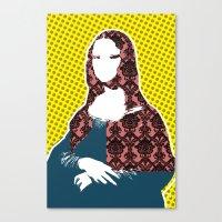 Mona Lisa SW+C X2 Canvas Print