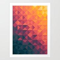 twilight Art Prints featuring Infinity Twilight by Picomodi