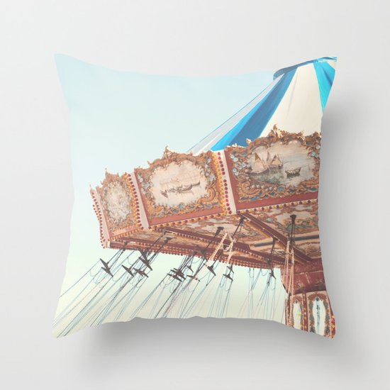 Soft Carousel, Carnival  Throw Pillow