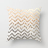 GOLD & SILVER  Throw Pillow