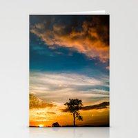 Nice Sunset Stationery Cards