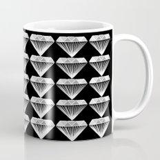 Diamonds Pattern - Black and White and Grey Mug