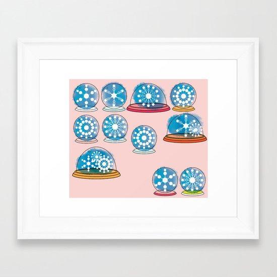 Snowglobes Framed Art Print