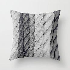 Ropes Black and White Nautical Throw Pillow