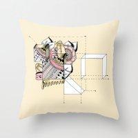 La geometría de las flores II Throw Pillow