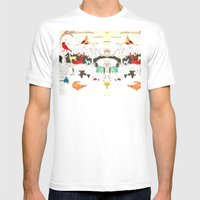 Animal Illustration Mens Fitted Tee White SMALL