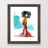 SUCH A LADY. Framed Art Print