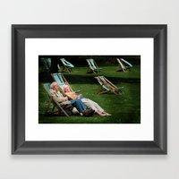 Elderly Couple In Victor… Framed Art Print