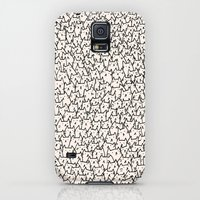 Galaxy S5 Cases featuring A Lot of Cats by Kitten Rain