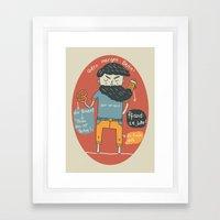Brezel und Bier Framed Art Print