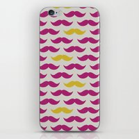 Mustache pattern iPhone & iPod Skin