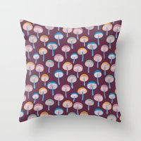 Pattern Project #41 / Mushrooms Throw Pillow