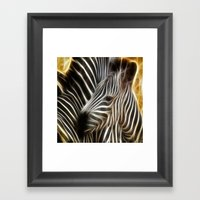 Zebra Love Framed Art Print