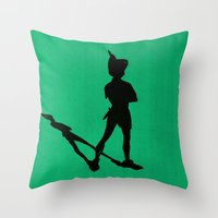 HE CAN FLY! (Peter Pan) Throw Pillow