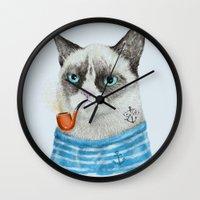 Sailor Cat I Wall Clock