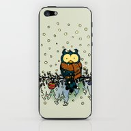Owl In The Snow V2 iPhone & iPod Skin