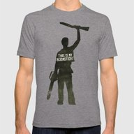 This Is My Boomstick! Mi… Mens Fitted Tee Tri-Grey SMALL