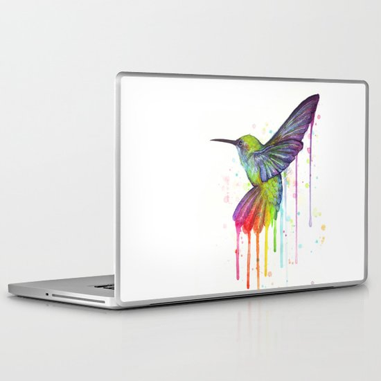 Hummingbird Watercolor Laptop & iPad Skin
