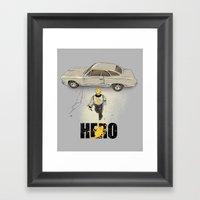 Real Hero Framed Art Print