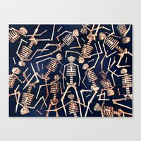 Skeleton Pile! Canvas Print