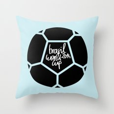 Brazil World Cup 2014 - Poster n°5 Throw Pillow