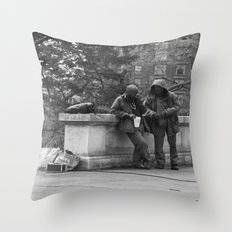 Casual Encounters Throw Pillow