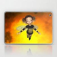 Little Bee Girl Golden Clouds Laptop & iPad Skin