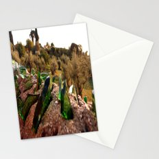 Emerlad Shards Stationery Cards