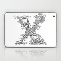 Letter 'X' Monochrome Laptop & iPad Skin