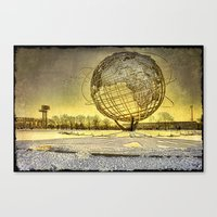 Unisphere Sunset Canvas Print