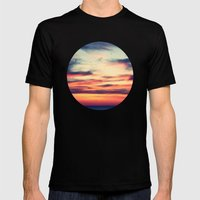 Sunset Mens Fitted Tee Black SMALL