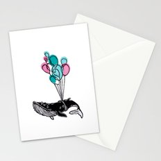 Balloons Whale II Stationery Cards