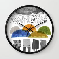 Cloudy Days For Uppercas… Wall Clock
