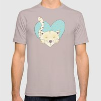 KITTY LOVE Mens Fitted Tee Cinder SMALL