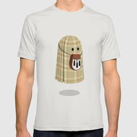 Plaid ghost Mens Fitted Tee Silver SMALL