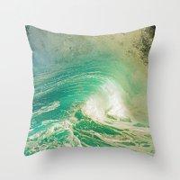 WAVE JOY Throw Pillow